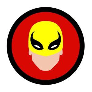Super. Black. Iron Fist Icon