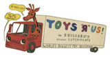 The Toy's R Us logo from the 1970s, originally named Children's Discount Supermarts