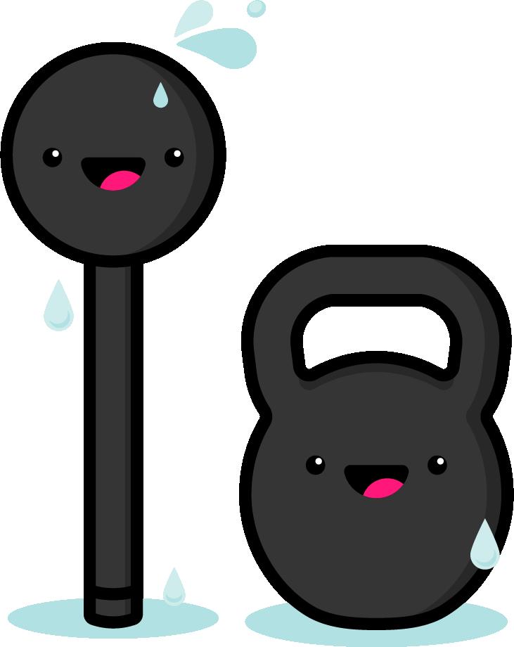 Doing Muscles - Sweaty